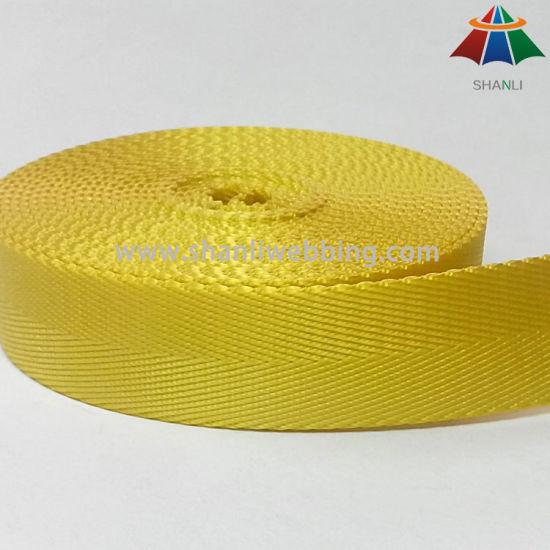25 mm Yellow Herringbone Nylon Webbing