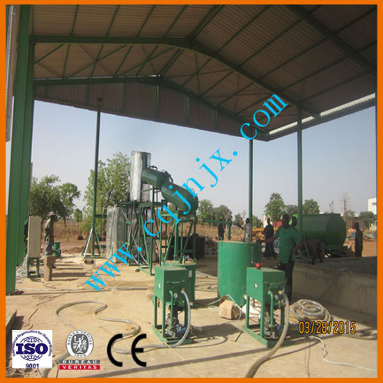 China Get Diesel Solene From Waste Oil Mini Oil Refinery System