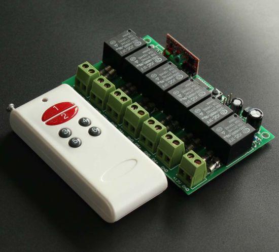 12V 6 Channels Garage Door 433/315MHz RF Remote Control Switch Motor Controller