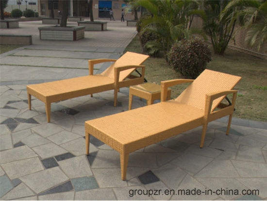 2017 Hot Sale Environmental Protection PE Rattan Sunbed pictures & photos