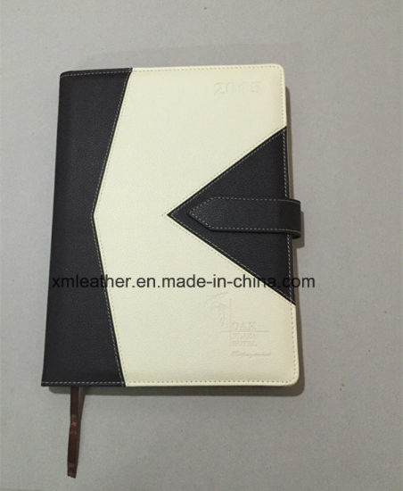Soft Expandable A4 A5 PU Leather Diary Cover With Logo Embossed