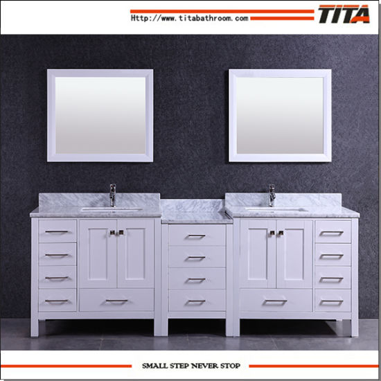 Solid Wood Bathroom Vanity Modern T9150-92W