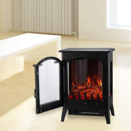 China Freestanding Portable Classic 3 Sides Master Flame Electric