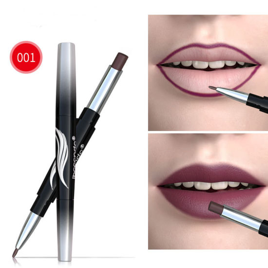 Womens Double-End Lasting Waterproof Lip Liner Lipstick Pencil Makeup Set pictures & photos