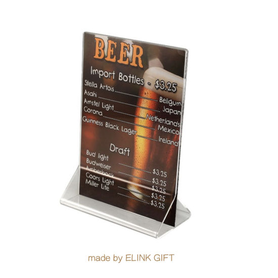 China Supplier Customized Logo Table Top Plastic Acrylic Menu Holder Menu Display Stand pictures & photos
