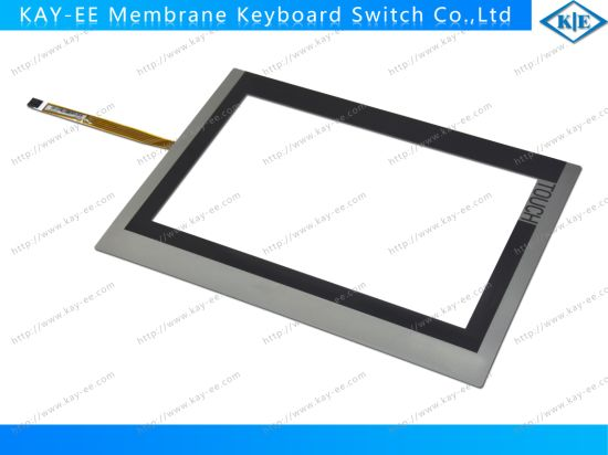 9 Inch 5 Wires Resistive Touch Screen Panel with Membrane Switch Label