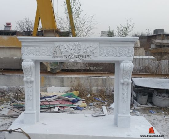 antique marble fireplace mantels. White Marble Fireplace Mantel Antique Stone Surround With Flower Carving China