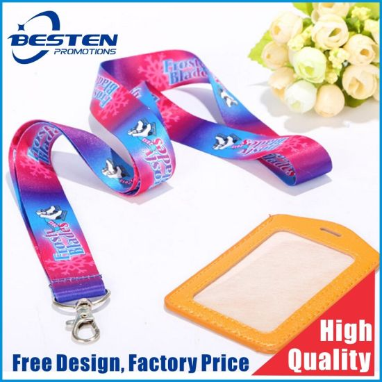 Hot Sales Promotional Heat Transfer Sublimation Printing Polyester Lanyard