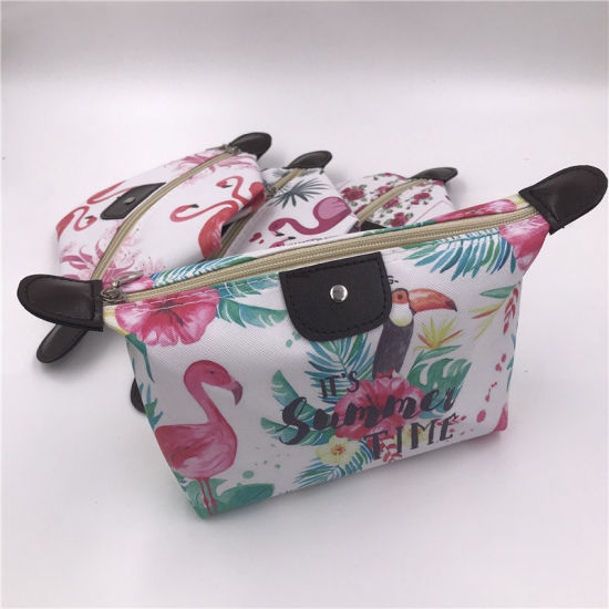 China Printed Cosmetic Bag Flamingo