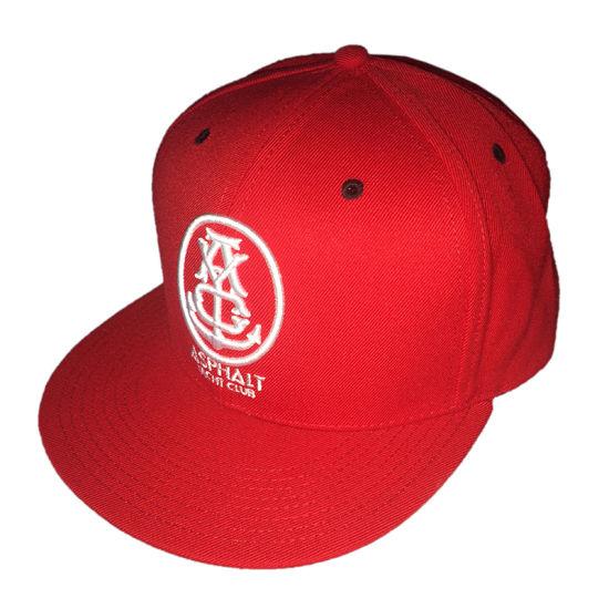 2fe02ea4ed1 Custom Sport Cap Red Cotton Hat Print Flat Bill Embroidery Snapback Cap
