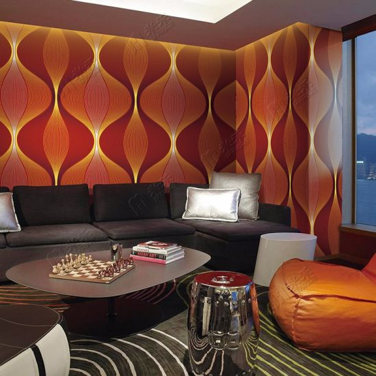 China 2017 New Design 4d Cool Home Decoration Pvc Waterproof Modern 3d Wallpaper China Wallpaper 3d Wallpaper