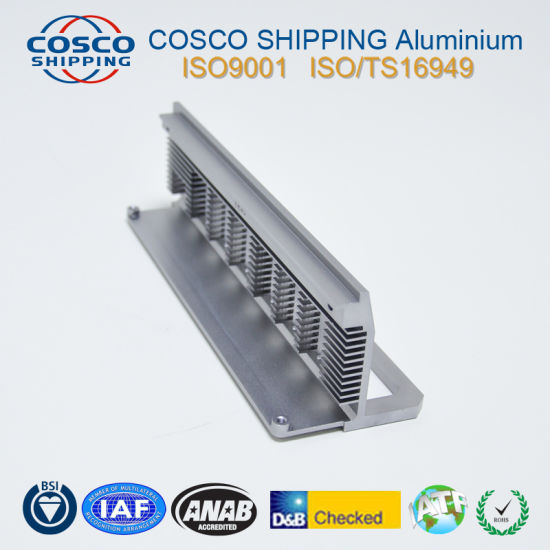 Competitive Aluminum Profile for Heat Sink with Clear Anodizing pictures & photos