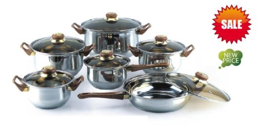 Hot Sale 12PCS Stainless Steel Cookware