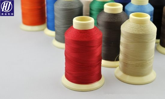 Industrial Threads 100% Polyester Bonded Threads for Knitting Tkt20 pictures & photos