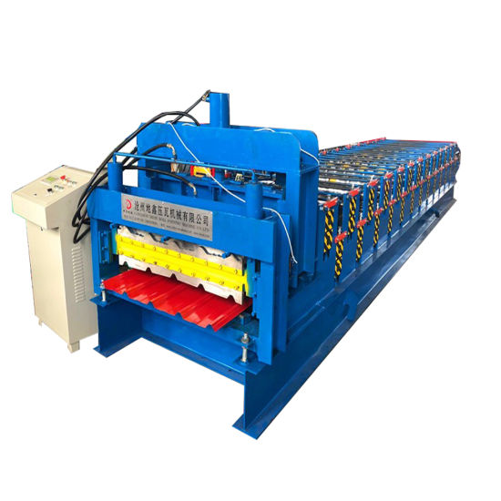 Zimbabwe Customer Order Double Layer Glazed Tile and Ibr Sheet Roll Forming Machine