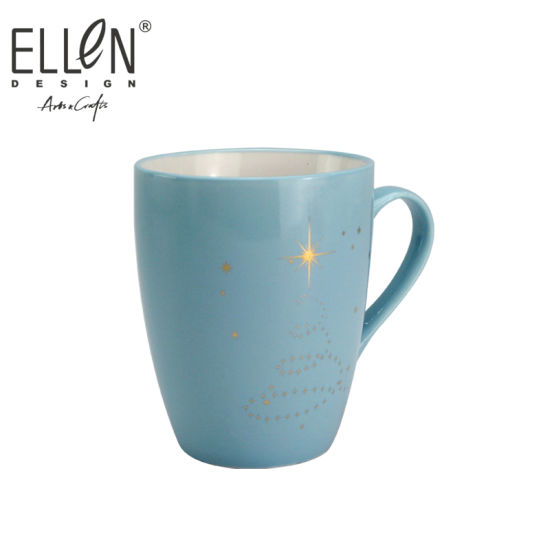 Wholesale Star Design Real Gold Ceramic Mug