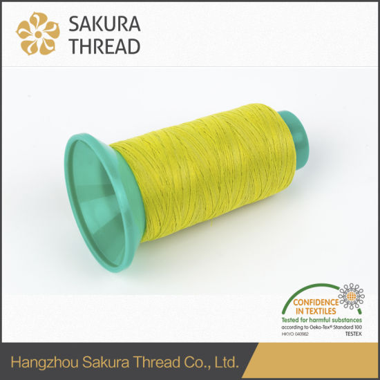 Oeko-Tex 300d/500d Polyester Reflective Thread for Knitting pictures & photos
