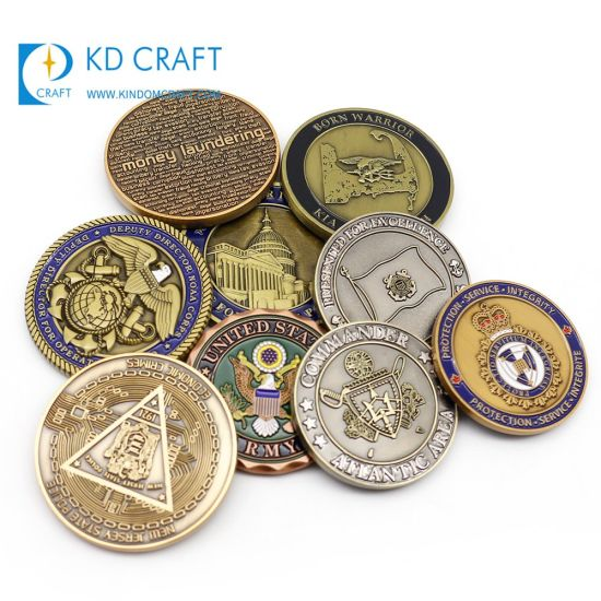 Wholesale Custom Made Metal Zinc Alloy Sport Martial Arts Karate Coins Antique Plated USA Wrestling Challenge Coin for Souvenir