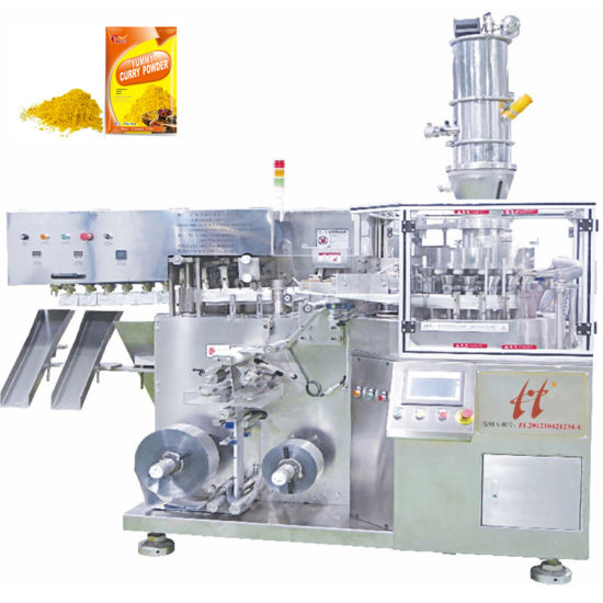 Spice/ Chilli/ Cumin/Seasoning Powder Bags High Speed Fully Automatic Packaging Machine 3 Side Seal Sachets
