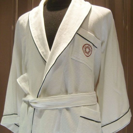 Waffle Hotel Bathrobe with Embroidery Logo pictures & photos
