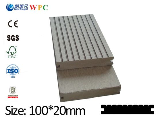 WPC Decking Plastic Wood Decking Wood Plastic Composite Decking Outdoor Flooring for Swimming Pool (LHMA 078)