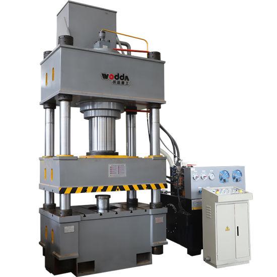 315 Ton Wheel Barrow Hopper Deep Drawing Three Beam Four Column Hydraulic Press Machine