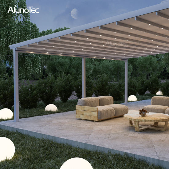 Customized Size Waterproof Awing Retractable Pergola with Remote Control System