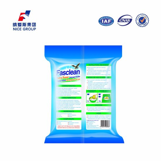 Highly Active Formula 500g Rich Form Fasclean Extra Power Detergent Powder