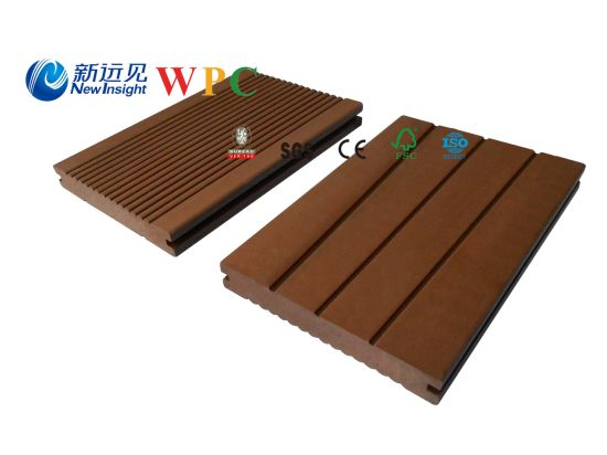 146*20mm Wood Plastic Composite Decking with CE, Fsg SGS, Certificate