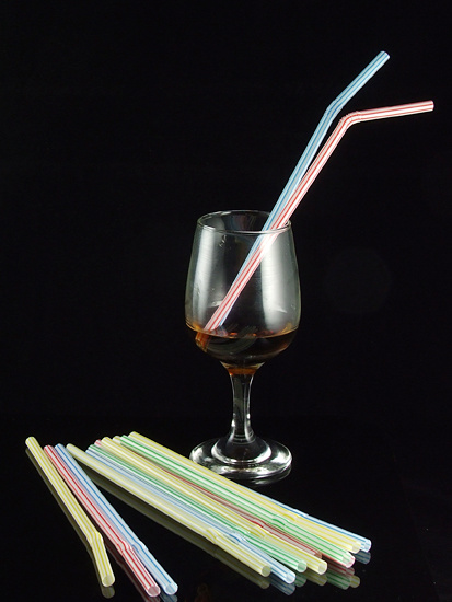 Strip Color Flexible Drinking Straws From China