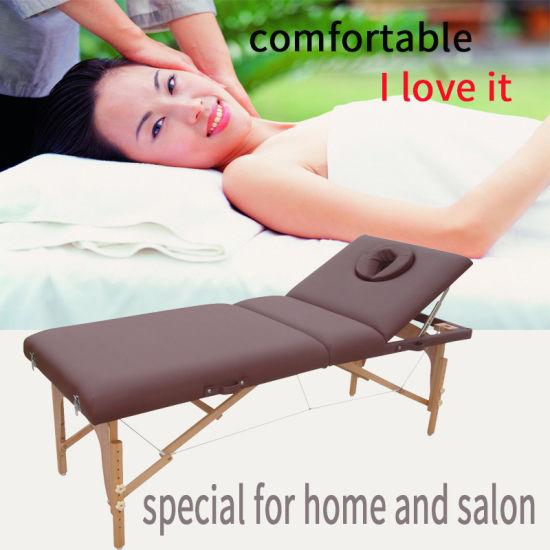 Portable Wooden Massage Table with Adjustable Backrest (MT-009-2)