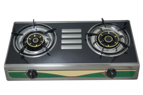 Table Top Two Burner Stainless Steel Panel Gas Cooker Cooker (JP-GC202)