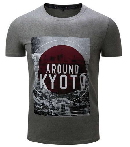 Custom Men Polyester/Spandex Dye Sublimation Printing T Shirt