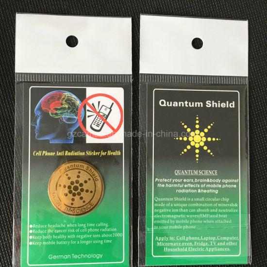 Round Anti Electromagnetic Radiation Sticker, OEM with Logo Design