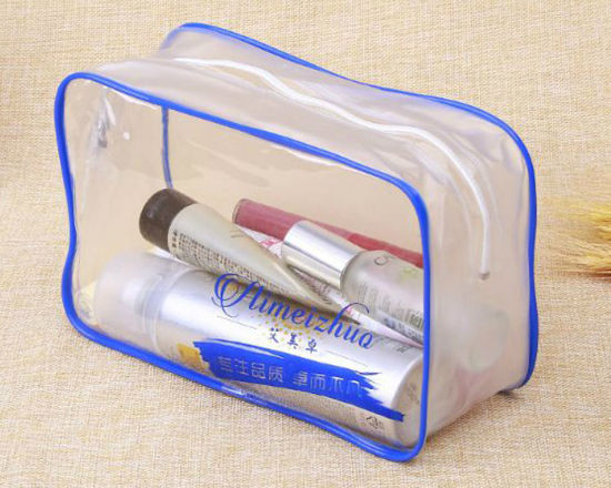Plastic Bag with Zipper for Packing Make up and Cosmetic pictures & photos
