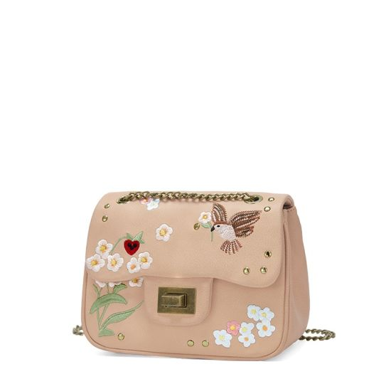 Retro Floral Girl Crossbody Bag Mini Embroidered Handbag pictures & photos