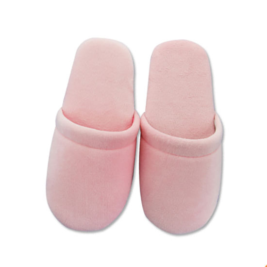 cc60a221243 China Pink Color Closed Toe Women Soft Warm House Shoes Sandal ...