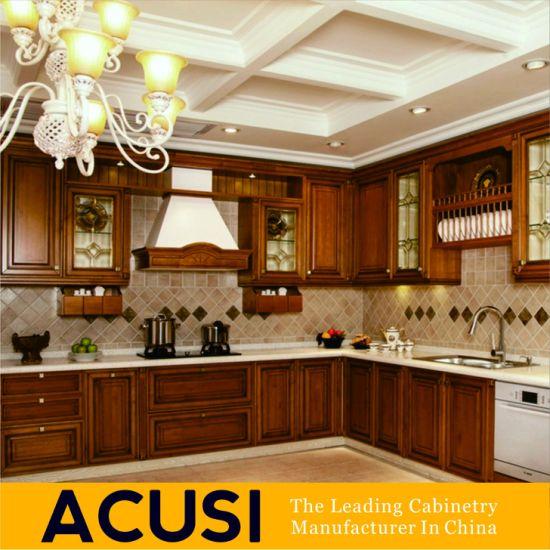 China 2018 American Kitchen Furniture Solid Wood Maple Kitchen