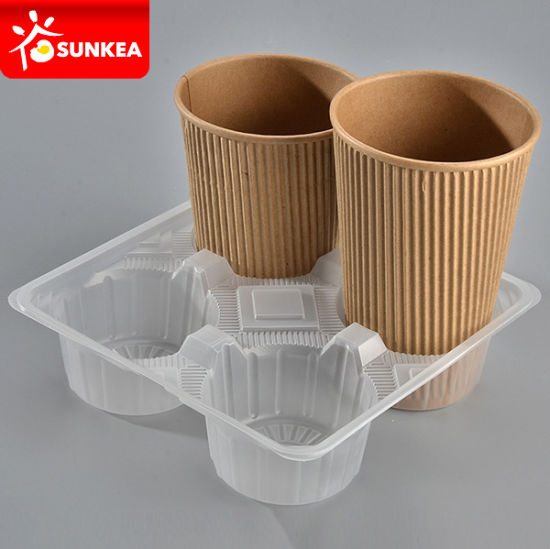 Disposable PP Plastic Paper Coffee Cup Holder
