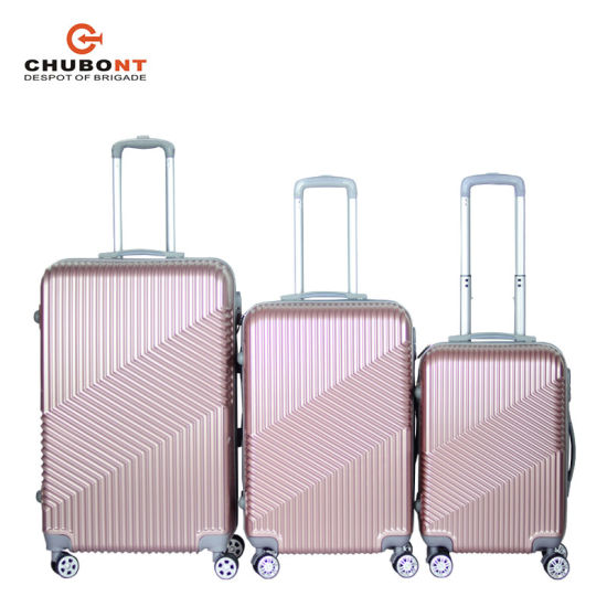 Chubont 3 Piece Luggage Travel Bag ABS Suitcase with Lock