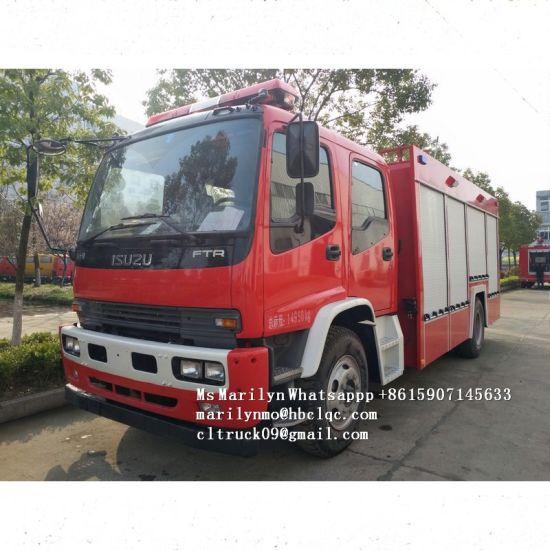 Low Price Factory Sales 8m3 Isuzu Fire Fighting Vehicle, Water and Foam Fire Truck, Water Tank Fire Truck