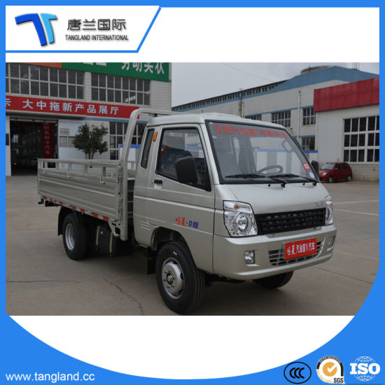 Mini/Lorry/Lcv/Flat Bed/Flatbed/Gasoline Light Duty Cargo Box Truck