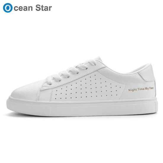 Top Sale PU Outsole Ladies White Skateboard Shoes Classic Mixed Women  Casual Shoes eec6f04194