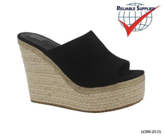 Women's Wedge Heel Platform Sandals Cross Strappy Casual Shoes