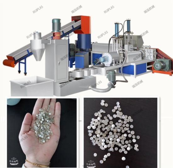 High Capacity Water Ring Waste Plastic Film Pelltizing System Granulating Recycling Machine