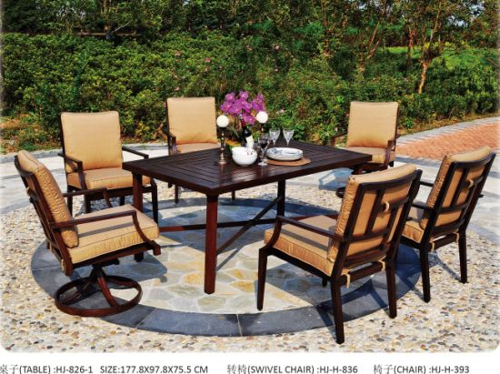 Cast Aluminum Garden Dining Table Patio Dining Chair