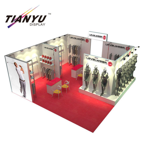 Exhibition Booth Decoration : China aluminum trade show stage decoration pop up display tianyu