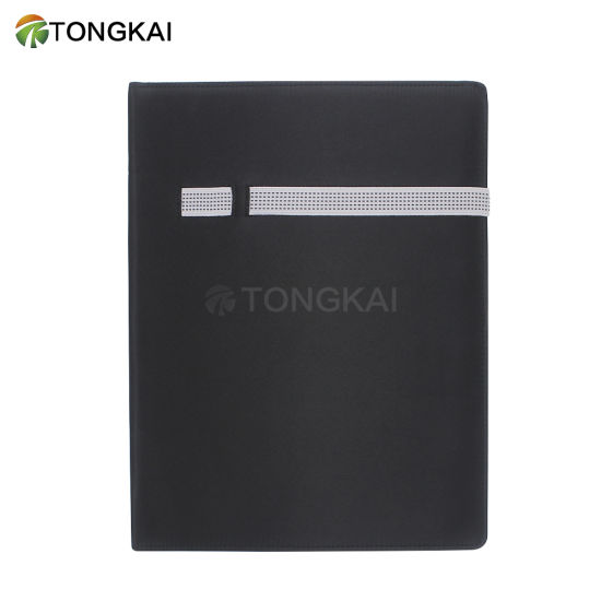 Tongkai High Quality Logo Custom Office Folder with Elastic
