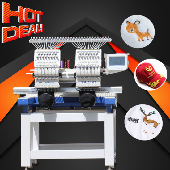 Holiauma New 2 Heads Mixed Embroidery Machine with New Daohao 8' Computer Control System Best Embroidery Same Like Happy and Yumei Embroidery Machine