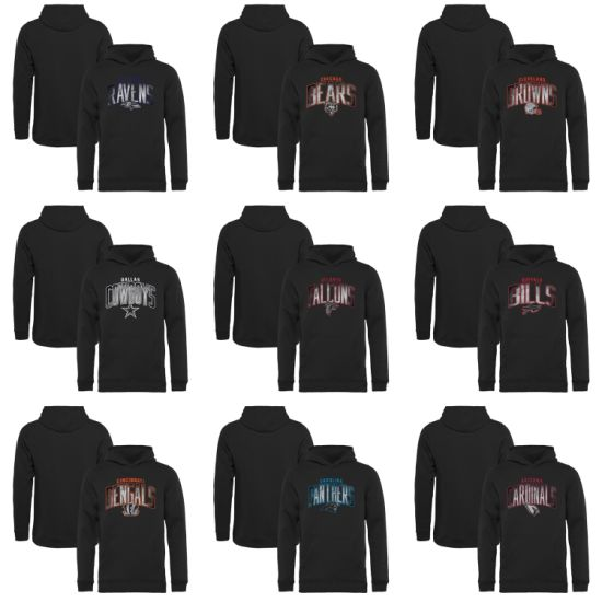 Wholesale 2019 Youth PRO Line Arch Smoke Black Pullovers Hoodies